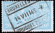 Belgium 1941 Railway Stamps (Numeral in Rectangle IV) u