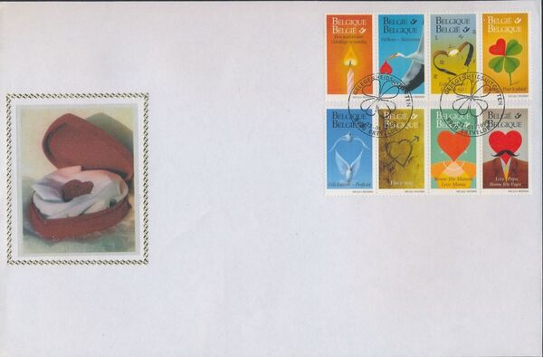 Belgium 1999 Greetings Stamps FDCa