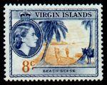 British Virgin Islands 1956 Queen Elizabeth II and Views g