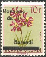Burundi 1962 Flower Issue of Ruanda-Urundi Overprinted h