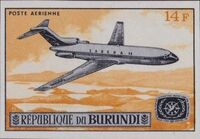 Burundi 1967 Opening of the Jet Airport at Bujumbura and International Tourist Year f