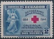 Ecuador 1944 80th Anniversary of the International Red Cross - Air Post Stamps a