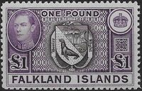 Falkland Islands 1938 George VI and Landscape (1st Issue) j