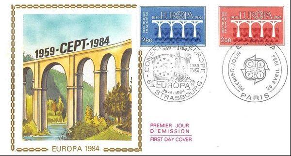 France 1984 EUROPA FDCa