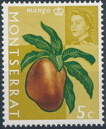 Montserrat 1965 Fruit & Vegetables and Portrait of Queen Elizabeth II e