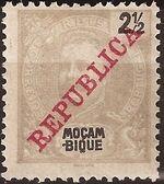 Mozambique 1911 D. Carlos I Overprinted a