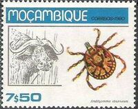 Mozambique 1980 Ticks from Mozambique f
