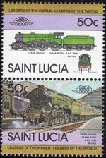 St Lucia 1983 Leaders of the World - LOCO 100 c