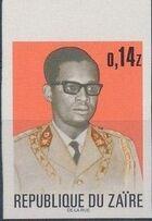 Zaire 1973 President Joseph Desiré Mobutu l