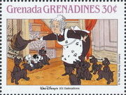 Grenada Grenadines 1988 The Disney Animal Stories in Postage Stamps 3i
