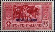 Italy (Aegean Islands)-Castelrosso 1932 50th Anniversary of the Death of Giuseppe Garibaldi f