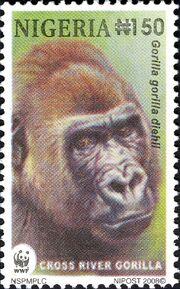 Nigeria 2008 WWF Cross River Gorilla d
