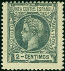 Spanish Guinea 1905 Alfonso XIII b
