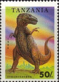 Tanzania 1994 Prehistoric Animals b