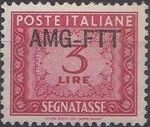 Trieste-Zone A 1954 Postage Due Stamps of Italy 1947-1954 Overprinted a