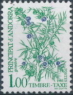 Andorra-French 1985 Flowers (Postage Due Stamps) f