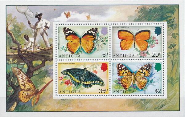 Antigua 1975 Butterflies h