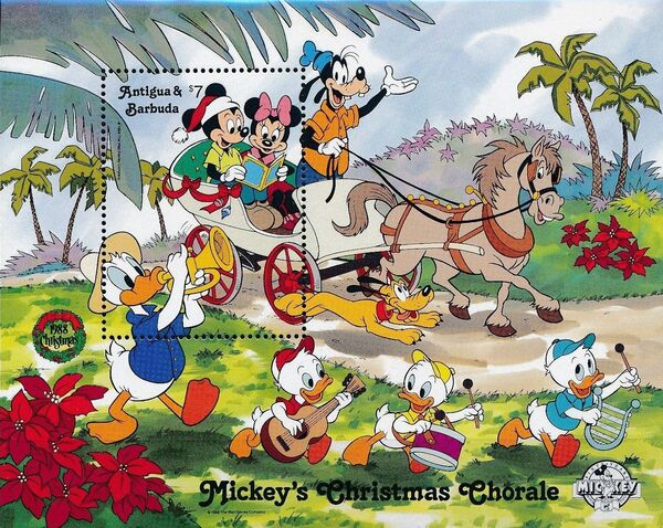 Antigua and Barbuda 1988 Disney - Mickey's Christmas Chorale l