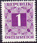 Austria 1949 Postage Due Stamps - Square frame with digit (1st Group) k