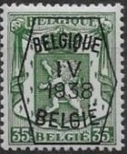 Belgium 1938 Coat of Arms - Precancel (4th Group) e