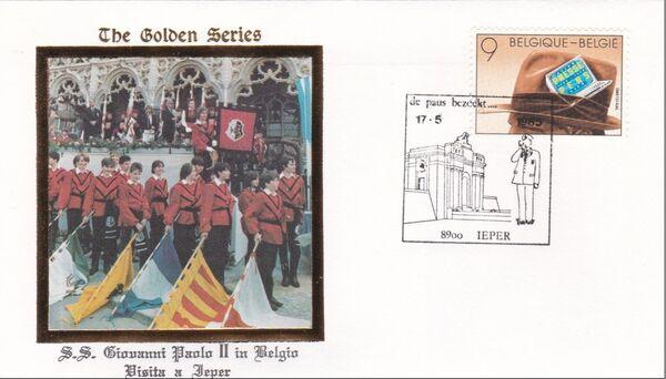 Belgium 1985 Visit of Pope John Paul II FDCp