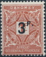 Dahomey 1927 Numerals of 1914 Surcharged b