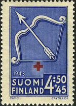 Finland 1943 Coats of Arms - Finnish Red Cross d