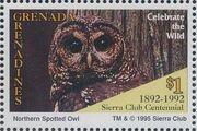 Grenada Grenadines 1995 100th Anniversary of Sierra Club - Endangered Species b