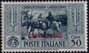 Italy (Aegean Islands)-Castelrosso 1932 50th Anniversary of the Death of Giuseppe Garibaldi d