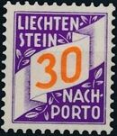 Liechtenstein 1928 Postage Due Stamps (Swiss Administration of the Post Office) f