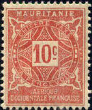 Mauritania 1914 Postage Due Stamps b