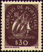 Portugal 1943 Portuguese Caravel (2nd Issue) c
