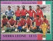 Sierra Leone 1990 Football World Cup in Italy e