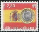 Vatican City 2004 Flags and One-Euro Coins o