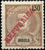 Angola 1911 D. Carlos I Overprinted k