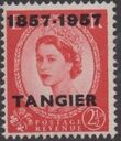 British Offices in Tangier 1957 Centenary Overprint (1857-1957) e