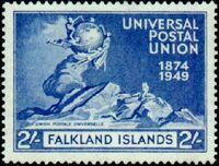 Falkland Islands 1949 75th Anniversary of Universal Postal Union UPU d