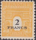 France 1945 Arc of the Triomphe - Allied Military Government h