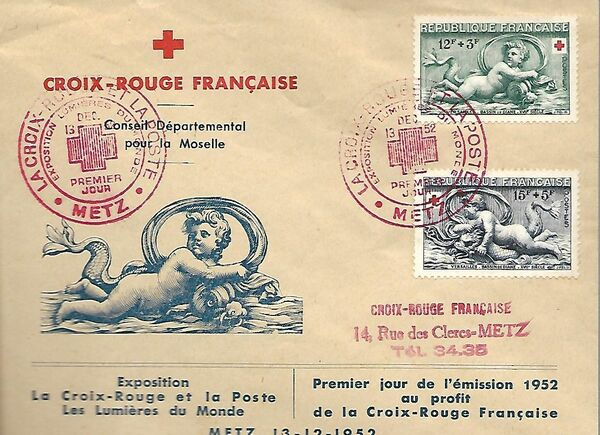 France 1952 Surtax for the Red Cross FDCb