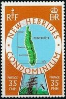 New Hebrides Condominium-British 1978 Map of New Hebrides b