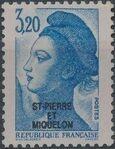 St Pierre et Miquelon 1986 Liberty from France Overprinted ST-PIERRE ET MIQUELON l