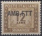 Trieste-Zone A 1950 Postage Due Stamps of Italy 1947-1954 Overprinted c