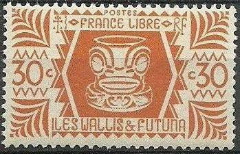 image wallis and futuna 1944 ivi poo bone carving in tiki design d