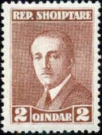 Albania 1925 President Ahmed Zogu b