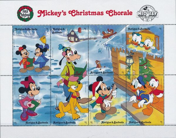 Antigua and Barbuda 1988 Disney - Mickey's Christmas Chorale k