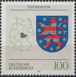 Germany, Federal Republic 1994 Coat of Arms of the Federal States of Germany (3rd Group) e