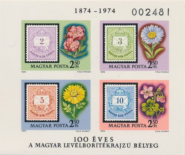 Hungary 1974 Centenary of the first issue inscribed Magyar Posta h