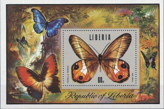 Liberia 1974 Tropical Butterflies Sa