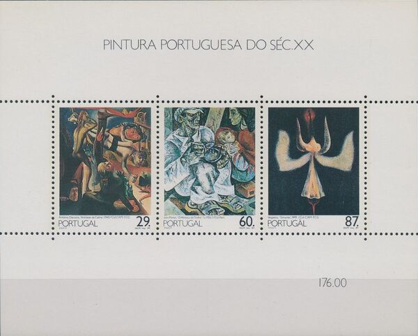 Portugal 1989 Portuguese Paintings of the 20th Century (3rd Group) e