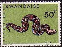 Rwanda 1967 Snakes c